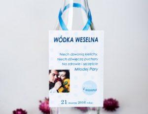 przykład zawieszki weselnej na wódkę