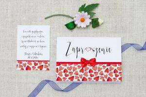 front zaproszenia na ślub